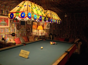 i know everyone goes on about the jungle room at graceland, but i have always been equally enthralled by the billiards room. just imagine the conversations that must have taken place in this room! memphis, tennessee. january 2014.