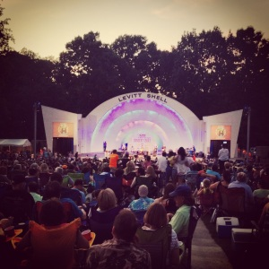 gorgeous night at the levitt shell for rosanne cash. memphis, tennessee. june 2014.