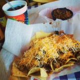 bbq nachos at central, because they are awesome. memphis, tennessee. october 2014.