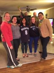 fun friends at my farewell memphis party. memphis, tennessee. december 2014.