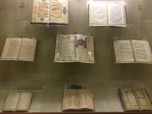 just a few of the awesome manuscripts on display in the manuscript room at salar jung museum. hyderabad, india. january 2015.