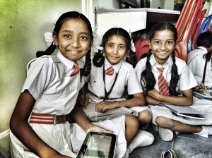 loved hanging out with these cool ladies at one of our schools. hyderabad, india. march 2015.