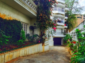 the entrance to my beautiful new house. bangalore, india. march 2015.