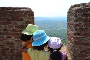 surveying their kingdom. savandurga, india. may 2015.