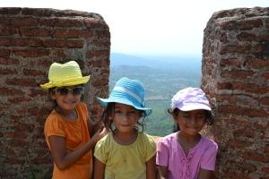 the three musketeers. savandurga, india. may 2015.