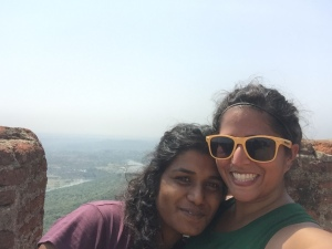 with my third-born on our way up the monolith. savandurga, india. may 2015.