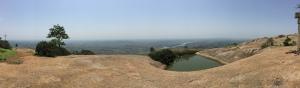view from the top [sorry i'm kind of crap at panoramas]. savandurga, india. may 2015.