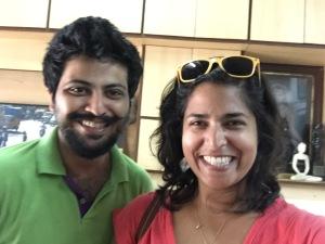 veena-deboo bonding time at the studio. bombay, india. may 2015.