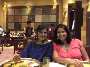 sharing a yummy meal with my work wife. bombay, india. may 2015.