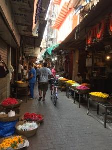 bombay's oldest flower market. bombay, india. may 2015.