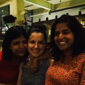dinner with these two lovelies. bombay, india. may 2015.