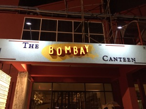 entrance to the bombay canteen. bombay, india. may 2015.