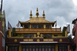 walking around the boudhanath stupa. kathmandu, nepal. august 2012.