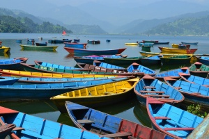 loved how colourful all the boats were. pokhara, nepal. october 2012.
