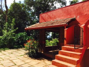 the main building at chingaara. coorg, india. june 2015.