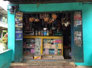 the shop at the bottom of the estate. coorg, india. june 2015.