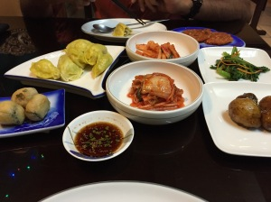 all the yummy korean small plates. bangalore, india. june 2015.