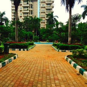 out for an early morning jog through my neighbourhood park. bangalore, india. june 2015.