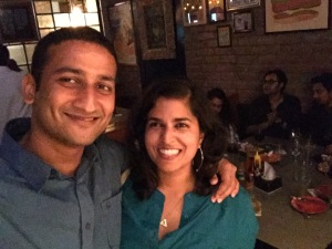 met appachu for drinks last weekend. we're pretty proud that we can finally afford to buy our own drinks. bangalore, india. june 2015.