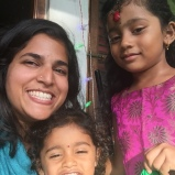 with my pumpkin and my peanut. bangalore, india. july 2015.