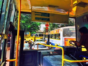 just another day on the bus. bangalore, india. july 2015.
