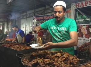 enjoying all the yummy street food goodness during ramzan. bangalore, india. july 2015.