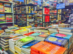 inside blossom, my favourite bookshop in all the land. bangalore, india. july 2015.