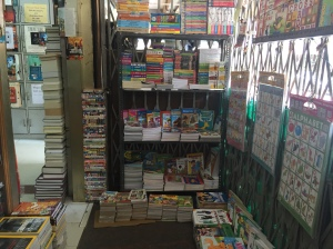 even the nooks and crannies are crammed full of books. bangalore, india. july 2015.