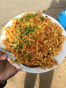 love me some bhel puri. bangalore, india. august 2015.
