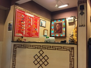 this is where my friend sits and laughs while i place my order. bangalore, india. august 2015.