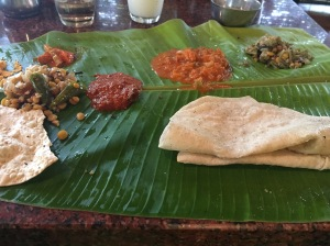 meals at kamat make my stomach happy. mysore road, india. august 2015.