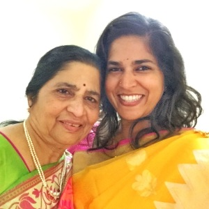 with my beautiful mother. coimbatore, india. august 2015.