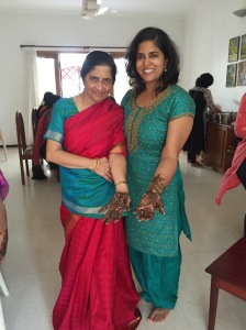 mommy and i got mehendi. coimbatore, india. august 2015.