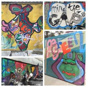 street art in front of max mueller bhavan. bangalore, india. september 2015.