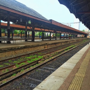 colombo fort railway station. colombo, sri lanka. september 2015.