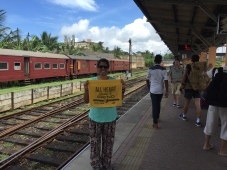 showing my grizz pride while waiting for the train. galle, sri lanka. october 2015.