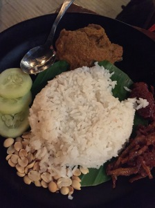 beef rendang main course. bangalore, india. october 2015.