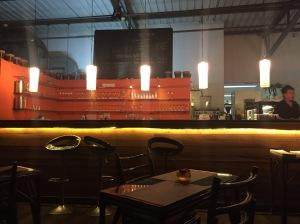the bar at cafe max. bangalore, india. october 2015.