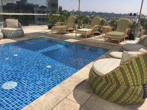 baby pool and lounge area. bangalore, india. october 2015.