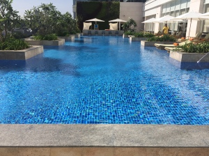 beautiful pool all to ourselves. bangalore, india. october 2015.