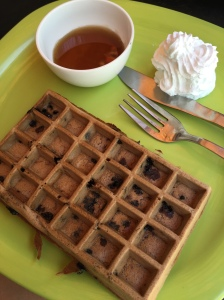 choco-chip waffle at desserted. bangalore, india. october 2015.