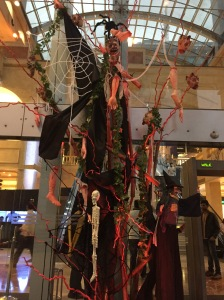 halloween decorations at ub city. bangalore, india. october 2015.