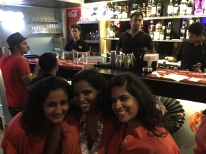 with avni and amai at easy tiger. bangalore, india. october 2015.