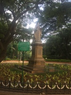 queen victoria statue in cubbon park. bangalore, india. november 2015.