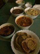 diwali dinner cooked by akanksha. bangalore, india. november 2015.