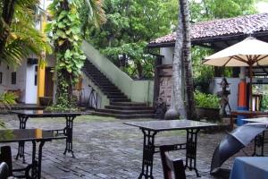 beautiful courtyard at barefoot. colombo, sri lanka. september 2015.