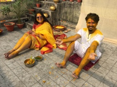 post-haldi. so much yellow.