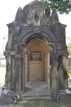 "the grave of charles ""hindoo"" stuart. calcutta, india. december 2015."