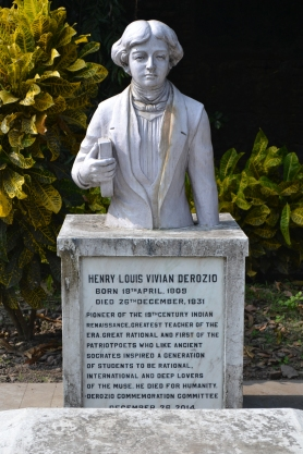 a newly designed gravestone for henry louis vivian derozio. calcutta, india. december 2015.
