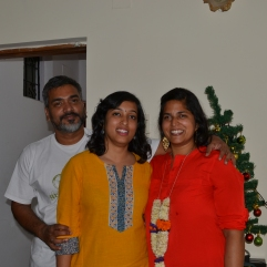 with bipin and akanksha. bangalore, india. december 2015.